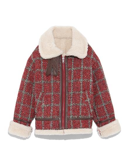 羊羔絨翻領飛行夾克