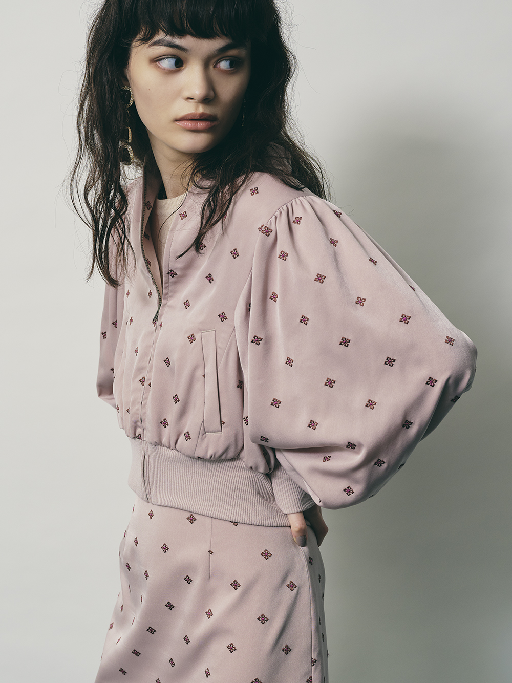 小紋刺繡外套