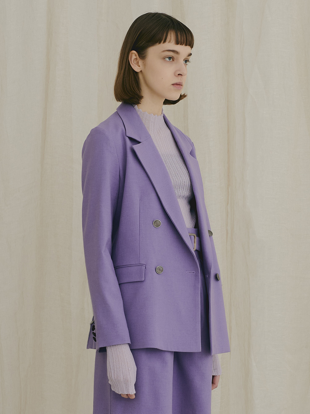 斜紋雙排釦西裝外套