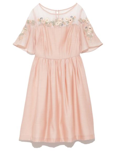 [L.B CANDY STOCK]甜美花卉刺繡洋裝