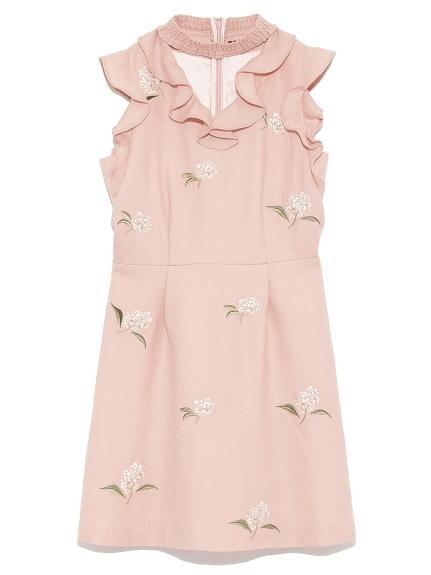 [L.B CANDY STOCK]花卉荷葉花邊洋裝
