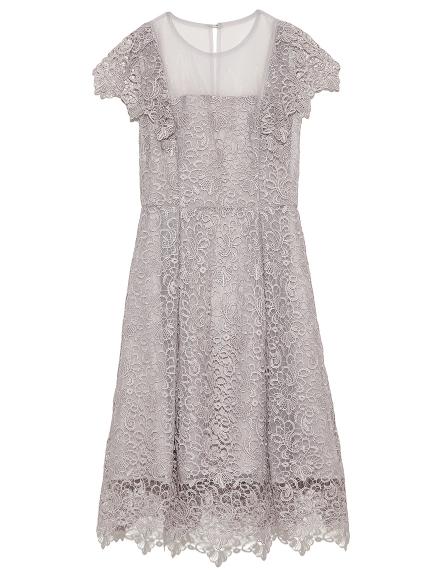 雕花蕾絲洋裝