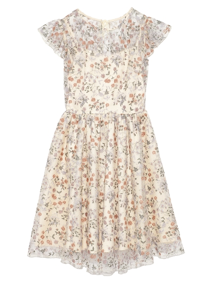碎花刺繡洋裝