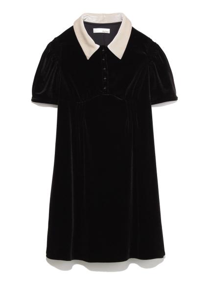 絨面領子洋裝