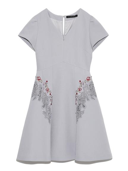 [L.B CANDY STOCK]刺繡寶石裝飾洋裝
