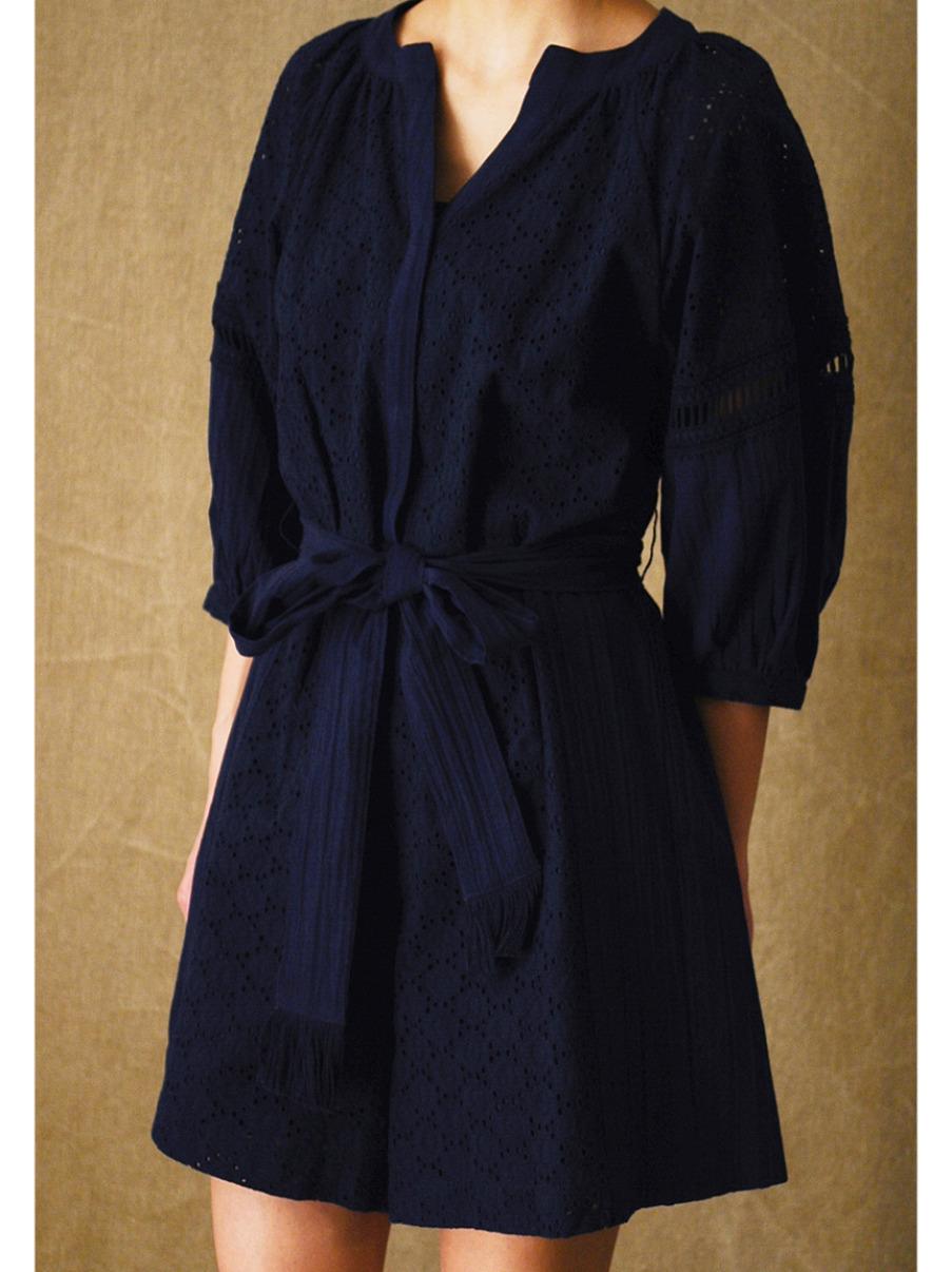 棉質刺繡連身褲