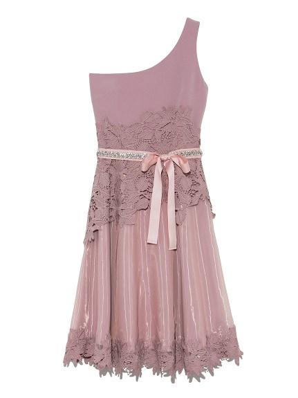 [L.B CANDY STOCK]單肩寶石洋裝