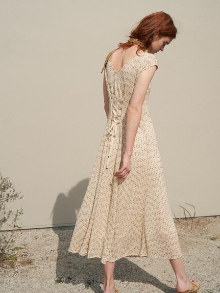 小碎花刺繡連身裙