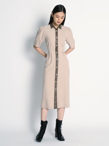 異材質復古連身裙