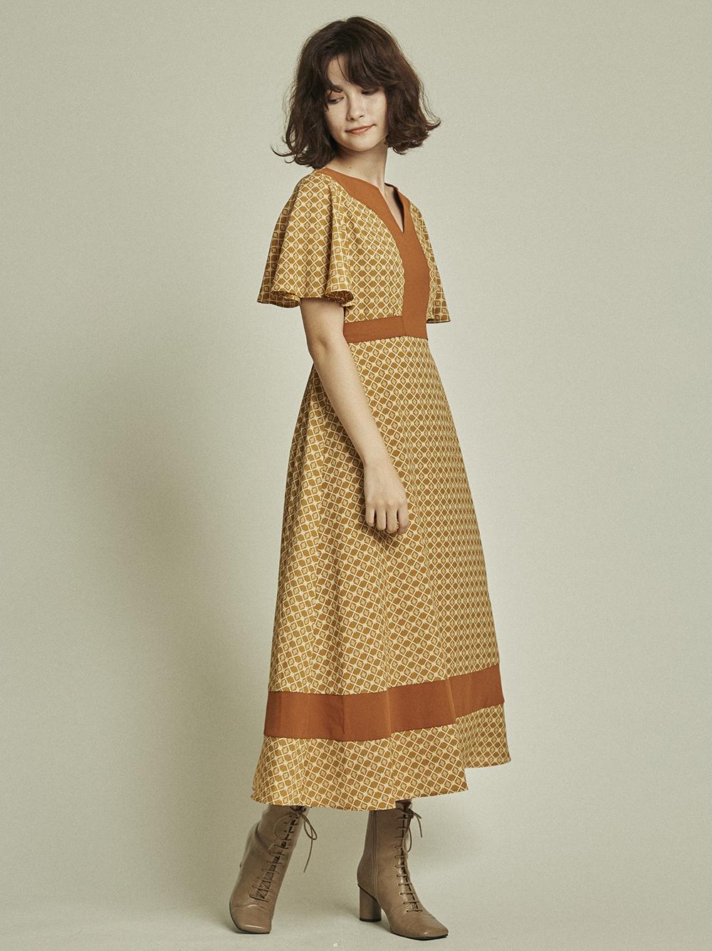 江戶切子格紋連身裙