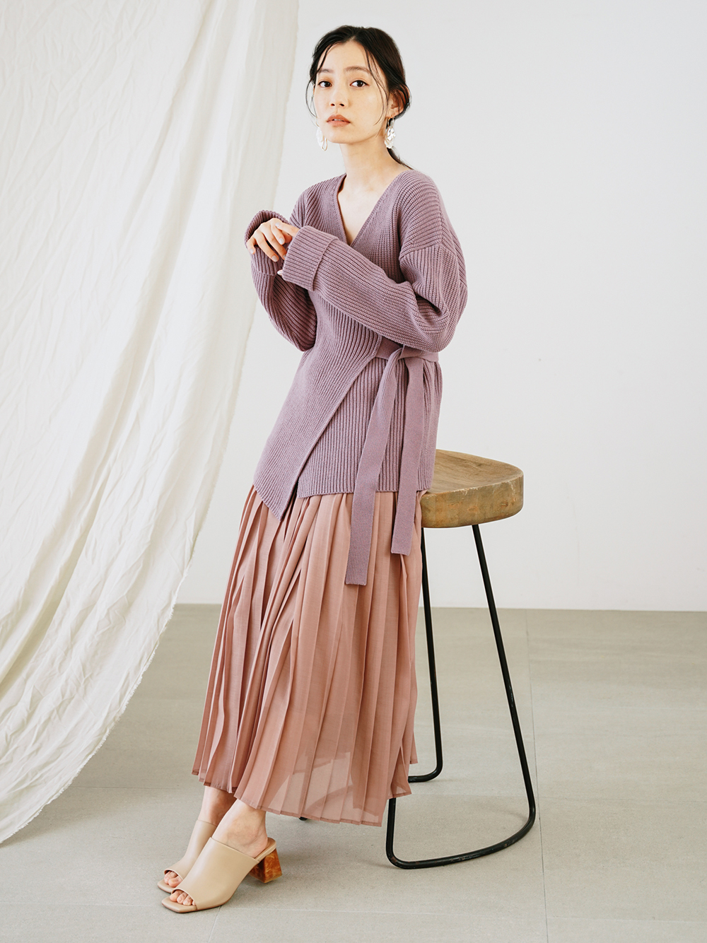 針織上衣長裙組合