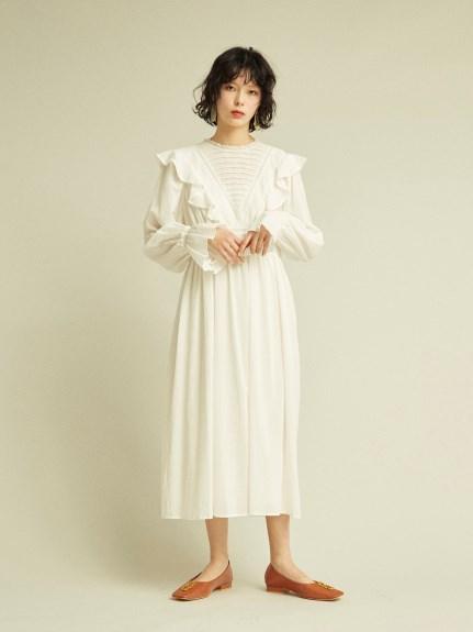 純棉荷葉邊飾連身裙