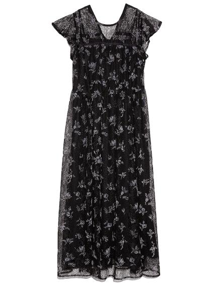 植絨花朵連身裙