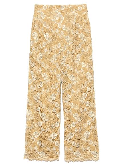 2-tone蕾絲造型長褲