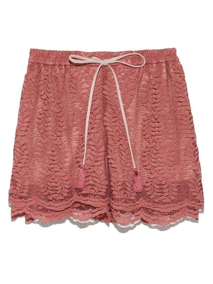 草葉造型蕾絲短褲