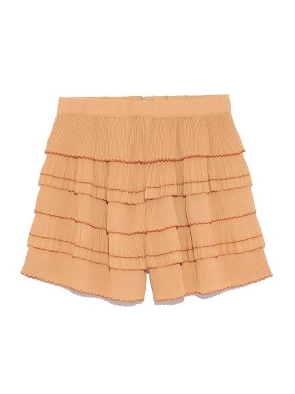 層次百褶短褲