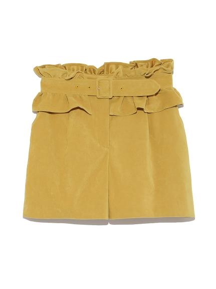 甜美附腰帶造型短褲