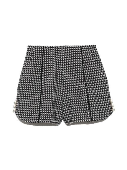 粗花呢幾何圖樣短褲