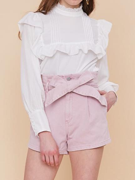 腰部綁結造型短褲