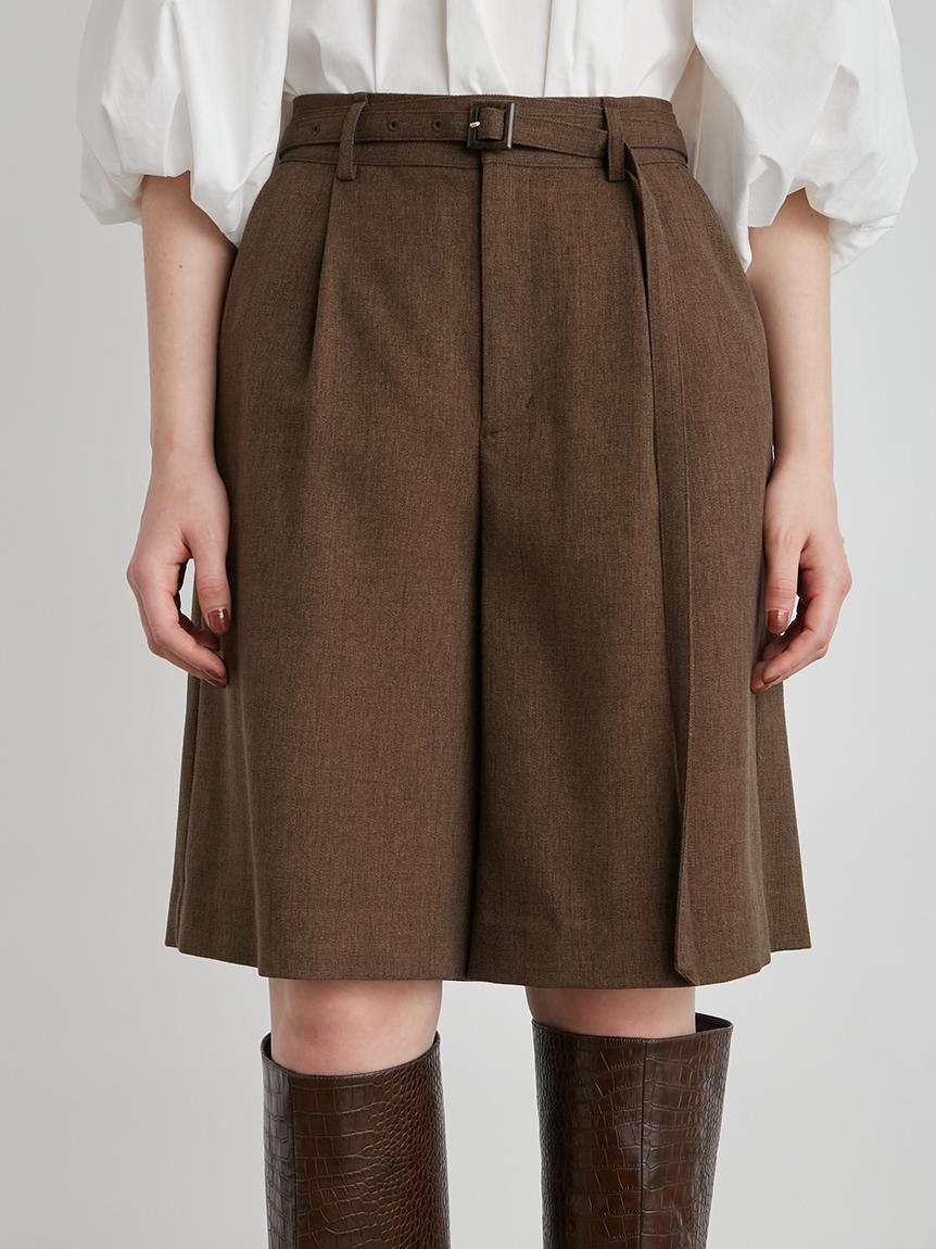 腰帶裝飾五分褲