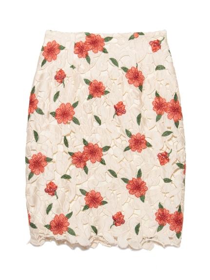蕾絲雕花窄裙