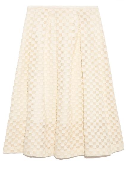 編織格紋造型及膝裙