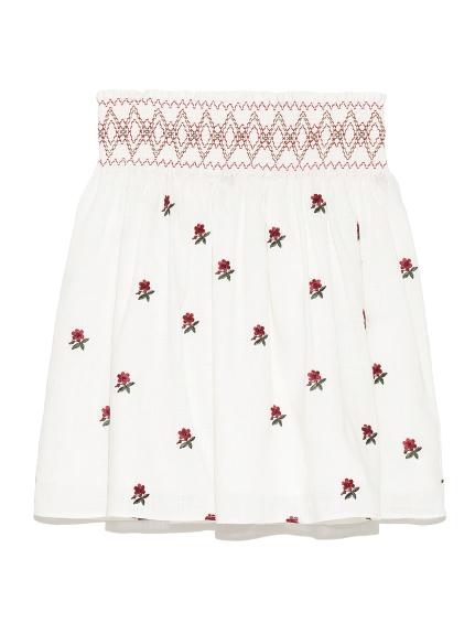 刺繡迷你裙