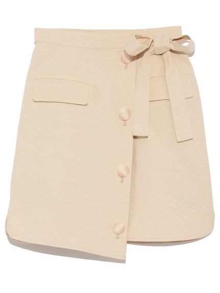 造型綁帶排釦短裙