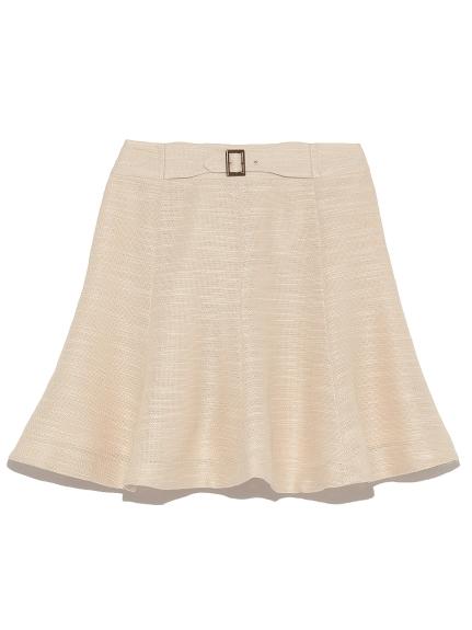 腰帶造型荷葉短裙