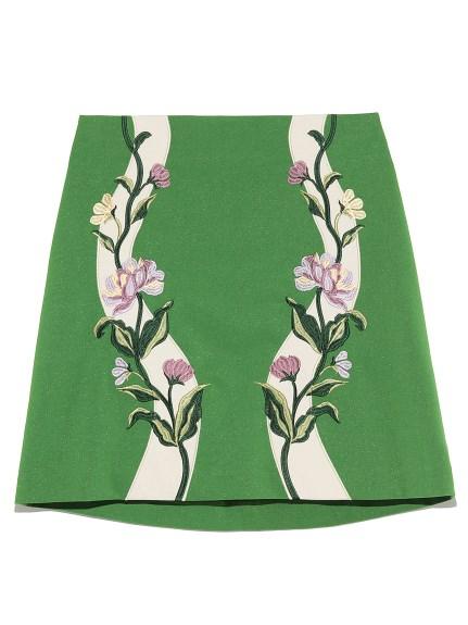 花朵刺繡短裙