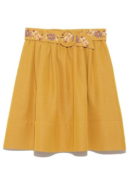 腰帶刺繡造型短裙
