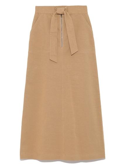 後開衩綁帶設計長裙