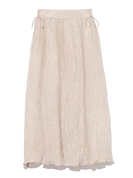 細皺光澤感長裙