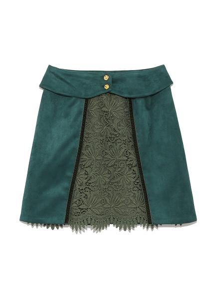 蕾絲鉤花拼接短裙