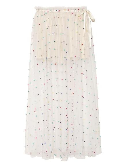 甜美釘珠設計感紗裙