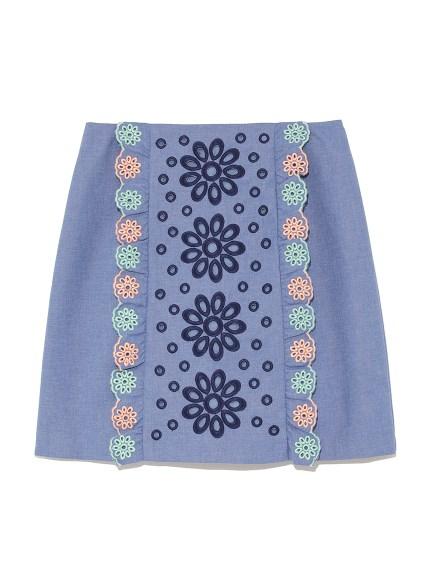 刺繡剪裁短裙