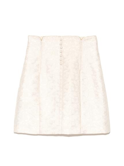 壓紋提花短裙