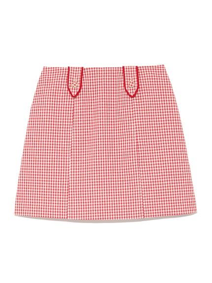 復古梯形剪裁短裙