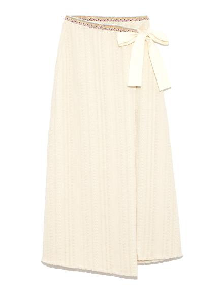 編織模樣繫帶半身裙