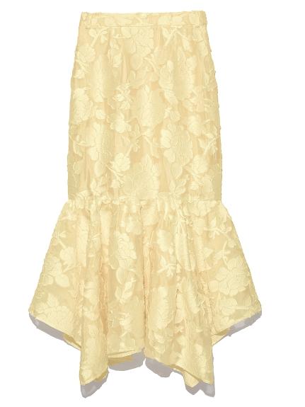 提花刺繡造型長裙