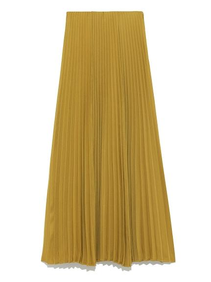 純色細褶長裙