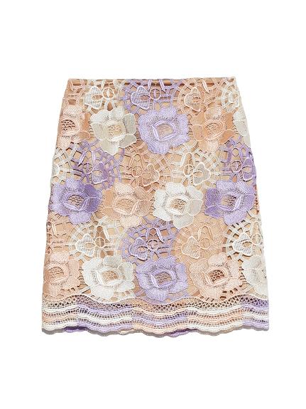 花朵蕾絲短裙