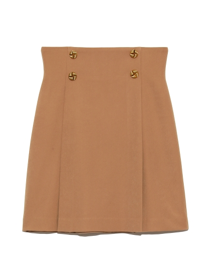 復古鈕釦造型短裙