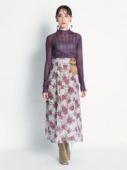 印花蕾絲雙層裙