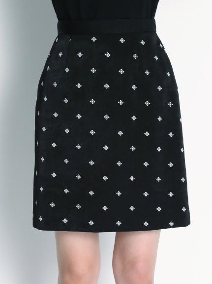 小紋刺繡短裙