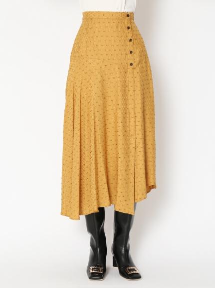 織布剪裁長裙