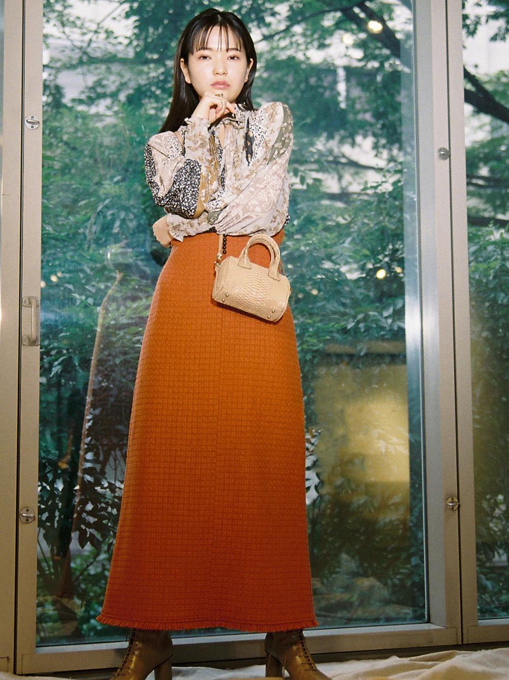 羊毛混紡長裙