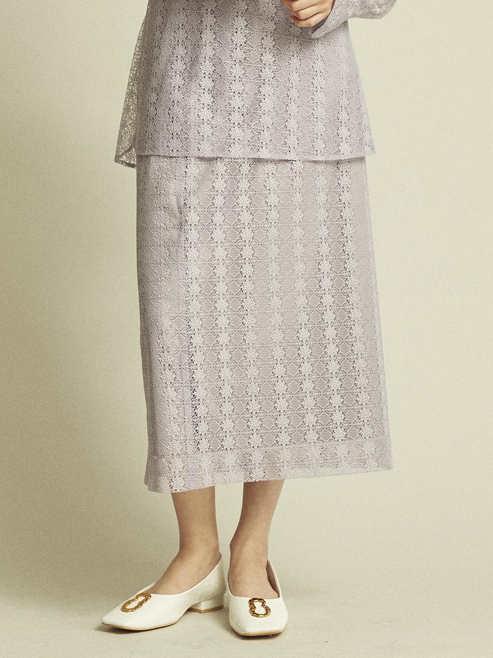 環保材質蕾絲窄裙