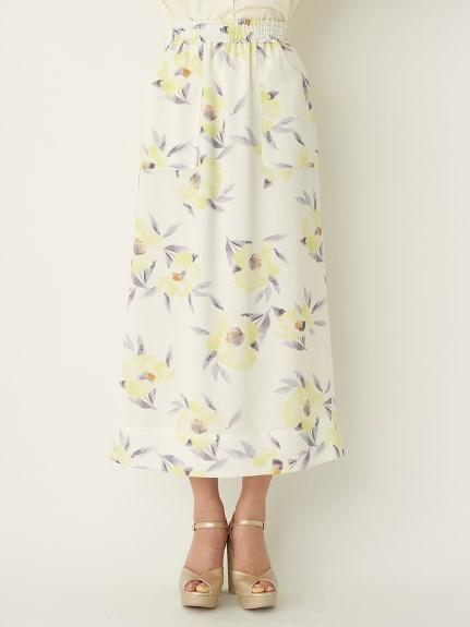 花朵I字窄裙