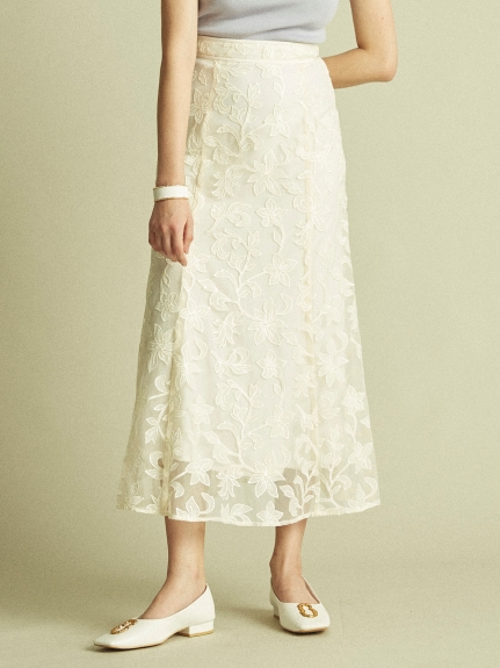 花朵刺繡紗裙